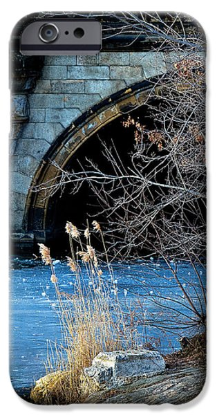A Frozen Corner in Central Park iPhone Case by Chris Lord
