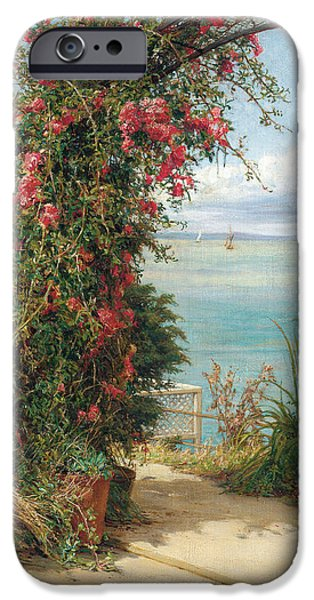 Garden iPhone Cases - A Garden by the Sea  iPhone Case by Frank Topham