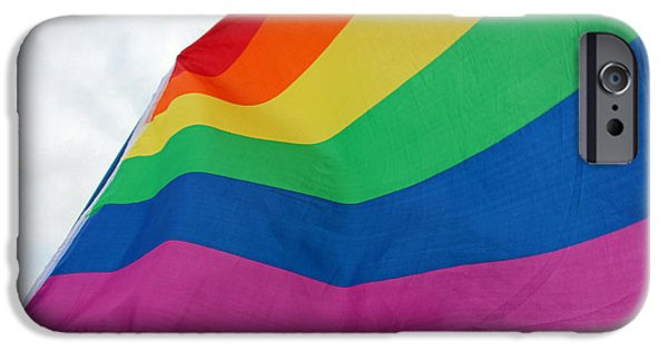 Cora Wandel iPhone Cases - A Gay Day At The Supreme Court iPhone Case by Cora Wandel