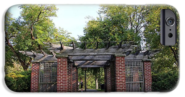 D.c. iPhone Cases - A Gazebo In Montrose Park iPhone Case by Cora Wandel
