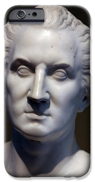 Cora Wandel iPhone Cases - A George Washington Bust By Horatio Greenough iPhone Case by Cora Wandel