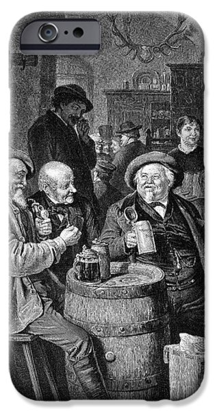 19th Century iPhone Cases - A German Tavern iPhone Case by Granger