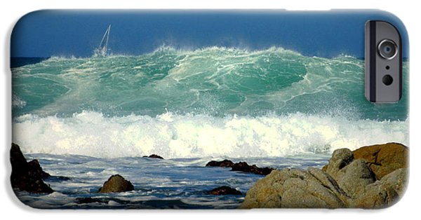 Business Photographs iPhone Cases - A good Day To Sail Monterey Bay One iPhone Case by Joyce Dickens