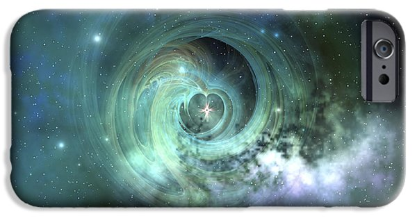 Concept Digital iPhone Cases - A Gorgeous Nebula In Outer Space iPhone Case by Corey Ford