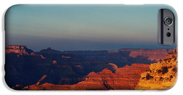 Grand Canyon Pastels iPhone Cases - A Grand Canyon Sunset iPhone Case by Karen Sanabria