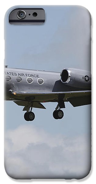 A Gulfstream C-20h Executive Transport iPhone Case by Timm Ziegenthaler