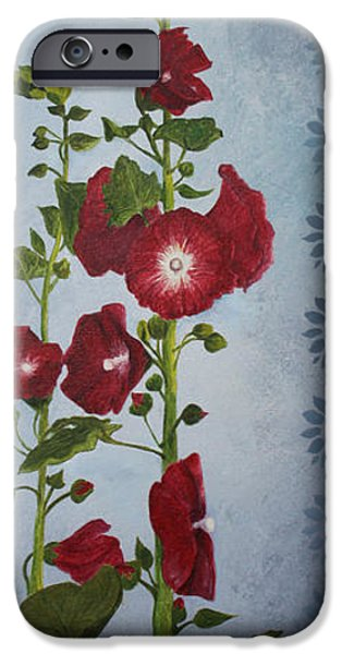 Alizarin Crimson iPhone Cases - A Happy Home iPhone Case by Jane Autry
