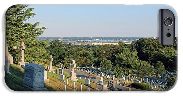 Cora Wandel iPhone Cases - A Hillside View In Arlington National Cemetery iPhone Case by Cora Wandel