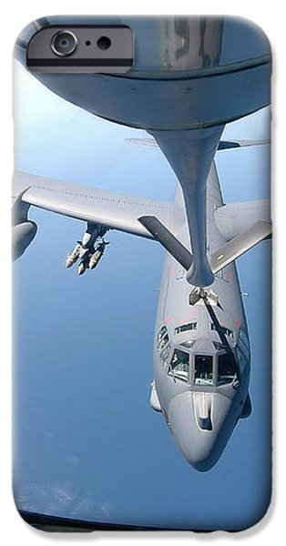 A Kc-135 Stratotanker Refuels A B-52 iPhone Case by Stocktrek Images