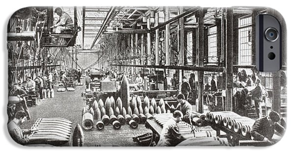 War iPhone Cases - A Krupp Factory In Germany Producing iPhone Case by Ken Welsh