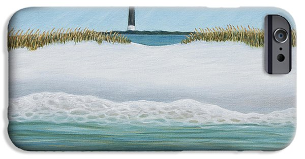 Abstract Forms iPhone Cases - A Lighthouse View iPhone Case by Margaret Biggs