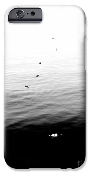 Town iPhone Cases - A Line of Buoys iPhone Case by Marcia Lee Jones