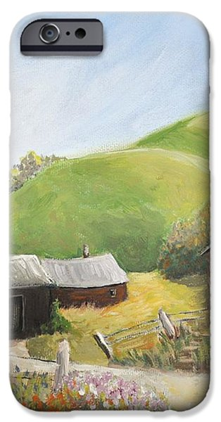 A Little Country Scene iPhone Case by Reb Frost