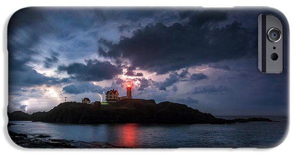 Nubble Lighthouse iPhone Cases - A little Extra Light iPhone Case by Scott Thorp