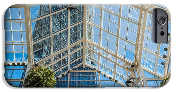 Xerox iPhone Cases - A Look Up At Legacy Tower Atrium iPhone Case by Ray Sheley