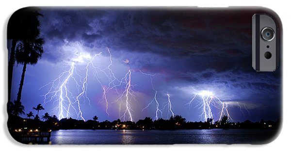 Power iPhone Cases - A magical night iPhone Case by Quinn Sedam