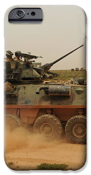 A Marine Corps Light Armored Vehicle iPhone Case by Stocktrek Images