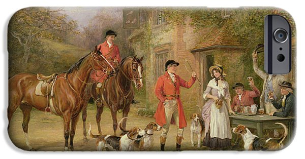 Pitcher iPhone Cases - A Meeting at the Three Pigeons iPhone Case by Heywood Hardy
