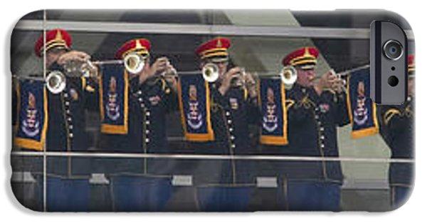 Arkansas iPhone Cases - A Military Band Of Trumpeters Performs iPhone Case by Panoramic Images