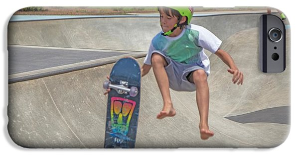 Young iPhone Cases - Airborne iPhone Case by Dennis  Baswell