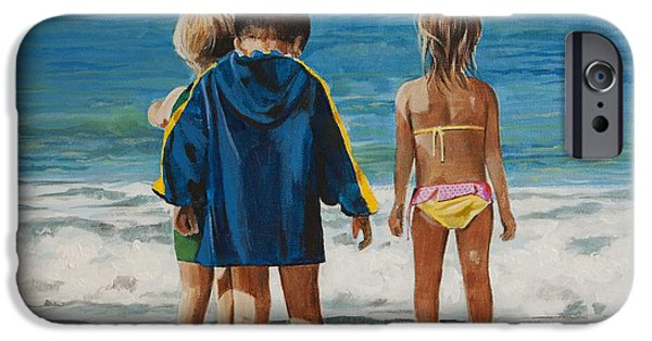 Beach Art iPhone Cases - A Moment in Time iPhone Case by Bill Dunkley