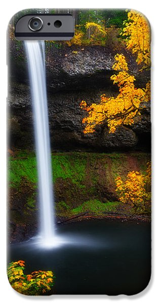 Autumn Landscape Photographs iPhone Cases - A Moment of Silence iPhone Case by Darren  White