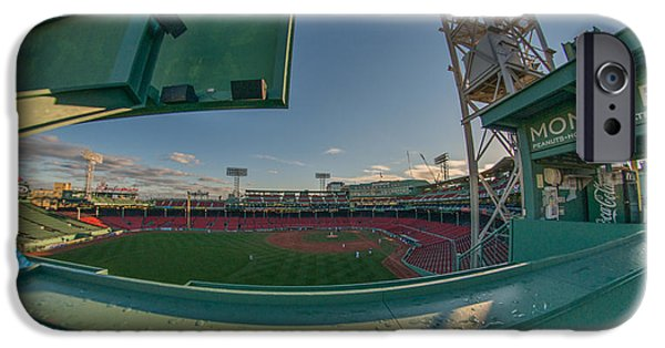 Fenway Park iPhone Cases - A Monster View iPhone Case by Bryan Xavier
