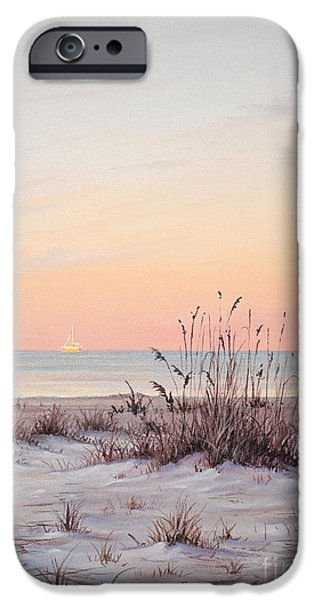 The Tiger Paintings iPhone Cases - A Morning Stroll iPhone Case by Joe Mandrick
