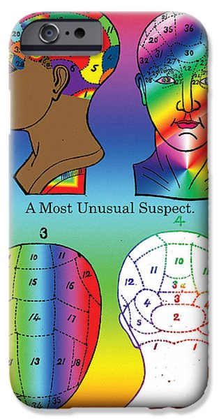 A Most Unusual Suspect iPhone Case by Eric Edelman