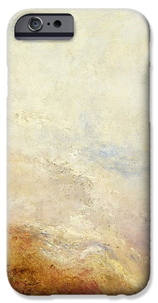 Nature Study Paintings iPhone Cases - A Mountain Scene iPhone Case by William Turner