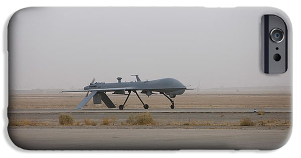 Iraq iPhone Cases - A Mq-1c Warrior Taxis Out To The Runway iPhone Case by Terry Moore
