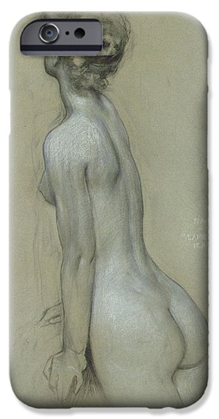 Female Body iPhone Cases - A Naiad in The Lament for Icarus iPhone Case by Herbert James Draper