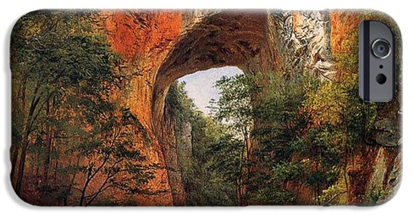 Hudson River iPhone Cases - A Natural Bridge in Virginia iPhone Case by David Johnson