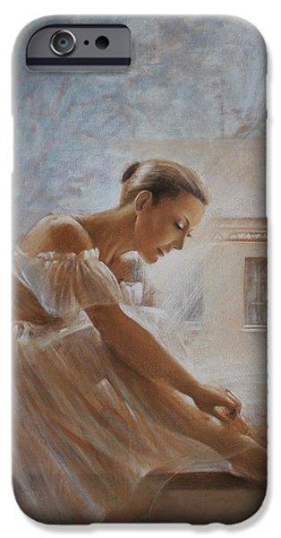 Ballet Dancers iPhone Cases - A new day Ballerina dance iPhone Case by Vali Irina Ciobanu