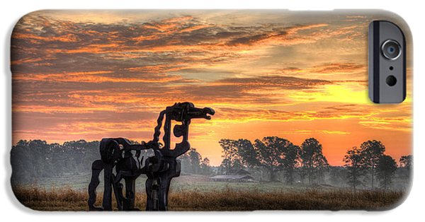 River iPhone Cases - A New Day The Iron Horse iPhone Case by Reid Callaway