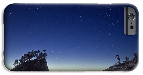 Ocean Sunset iPhone Cases - A night for stargazing iPhone Case by William Lee