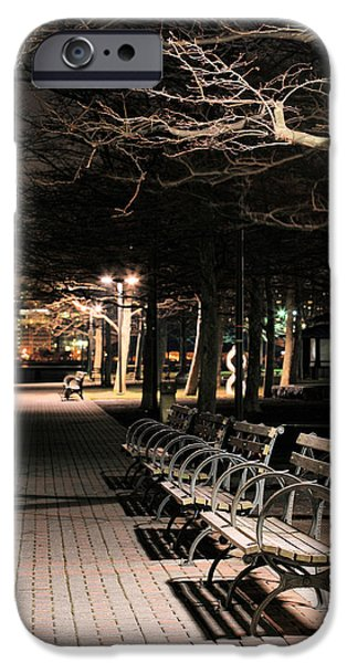 Jogging iPhone Cases - A Night in Hoboken iPhone Case by JC Findley
