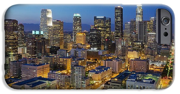 Cities Photographs iPhone Cases - A night in L A iPhone Case by Kelley King