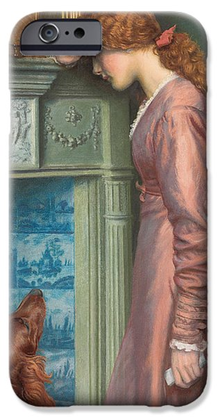 Crying Paintings iPhone Cases - A Passing Cloud iPhone Case by Arthur Hughes