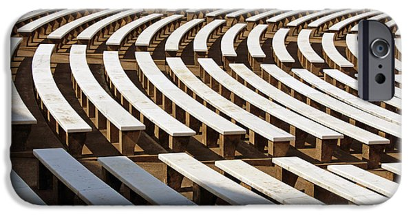 President iPhone Cases - The Curved Benches Of Arlingtons Memorial Amphitheater iPhone Case by Cora Wandel
