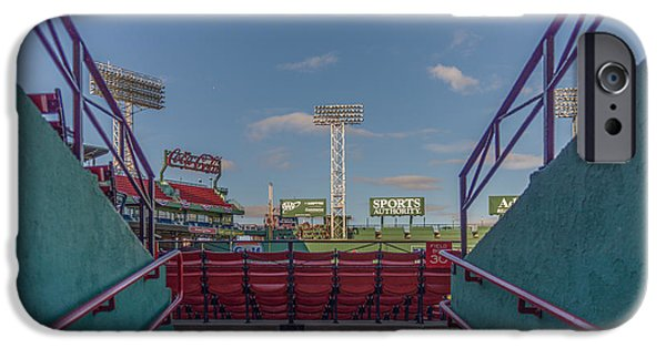 Boston Red Sox iPhone Cases - A peek at the monstah iPhone Case by Bryan Xavier