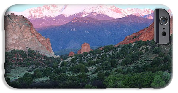 Bates iPhone Cases - A Pikes Peak Sunrise iPhone Case by Eric Glaser