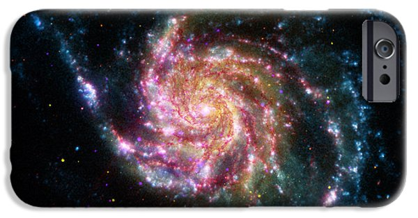 Constellations iPhone Cases - A Pinwheel in Many Colors iPhone Case by Artistic Panda
