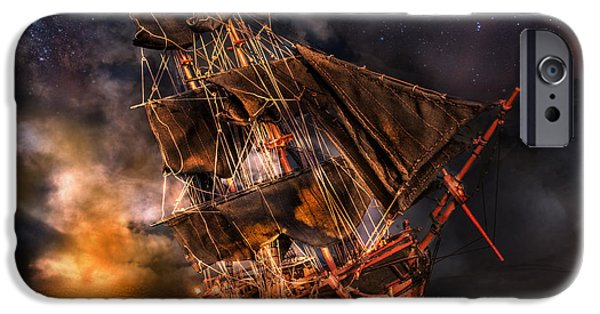Pirate Ship iPhone Cases - A Pirates Life for Me iPhone Case by Dianne Phelps