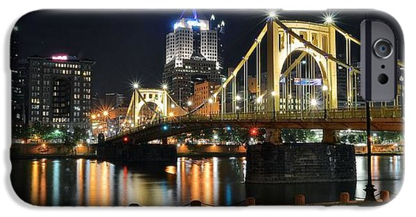 Pennsylvania Baseball Parks iPhone Cases - A Pittsburgh Panorama iPhone Case by Frozen in Time Fine Art Photography