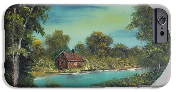 Bob Ross Paintings iPhone Cases - A Place to Reflect iPhone Case by Bob Williams