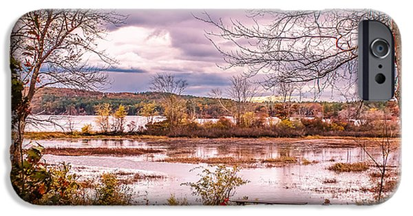 White House iPhone Cases - A place to rest at the pond iPhone Case by Claudia Mottram
