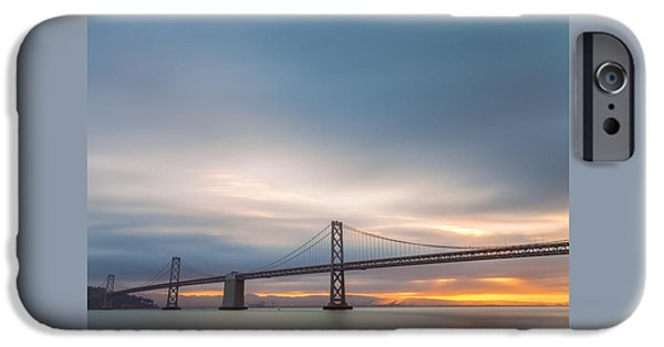 Bay Bridge iPhone Cases - A Quiet Morning iPhone Case by Jonathan Nguyen