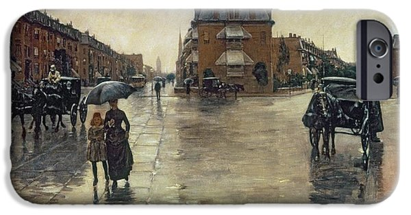 Best Sellers -  - Boston Ma iPhone Cases - A Rainy Day in Boston iPhone Case by Childe Hassam