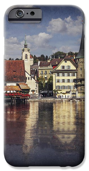 Town iPhone Cases - A Reflection of Lucerne iPhone Case by Carol Japp